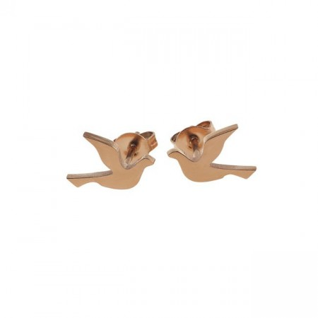Dove studs small rose gold