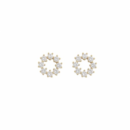 SNÖ Luire round earring gold/clear