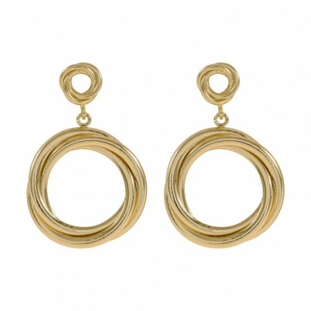 Wire big ear plain gold