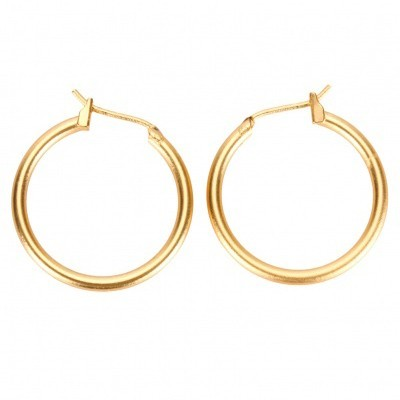Small golden hoops