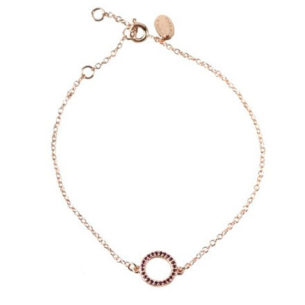 COOEE Circle Bracelet Rose Gold Plated 18k