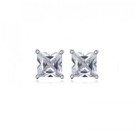 Essential crystal square stud earrings