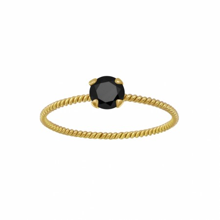 Portofino twisted ring black/gold