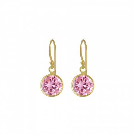 Celine mini drop earrings pink/gold