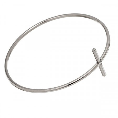 Divine Cross Bangle Steel