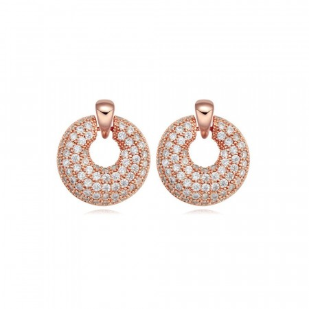 Fancy pancy rose gold earrings