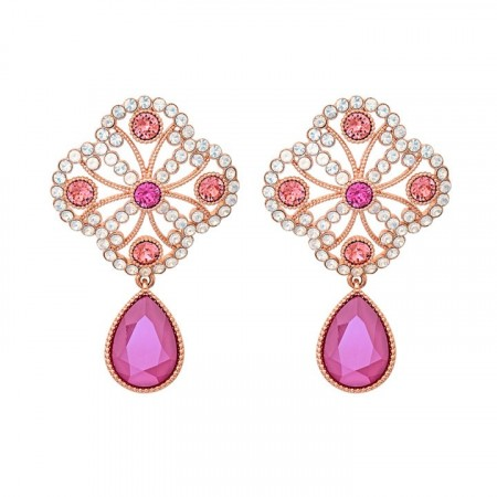 Lola earrings peony pink