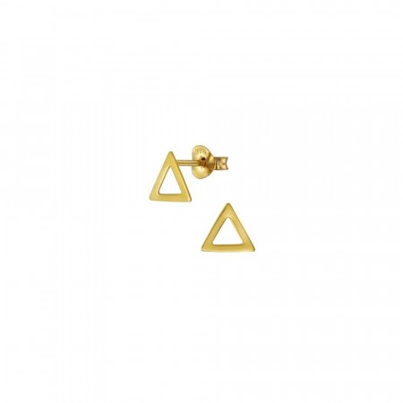 14K gullbelagte Skyler Triangle earrings