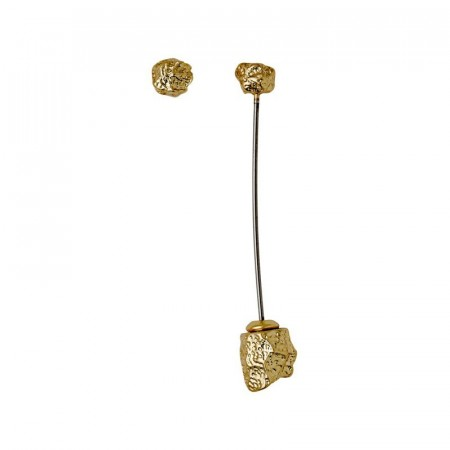 PILGRIM Fragment gold plated rock earrings