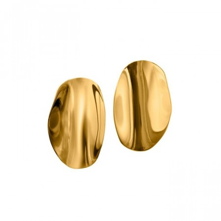 Edblad ørepynt Pebble studs large gold