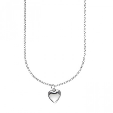 Small card pendant necklace plain silver