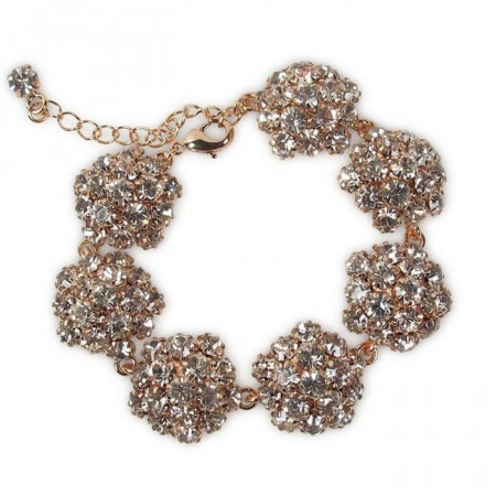 Sandra bracelet clear/rose gold