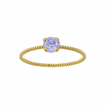 Portofino twisted ring lavender/gold
