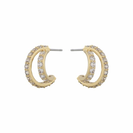 SNÖ Luire oval earring gold/clear