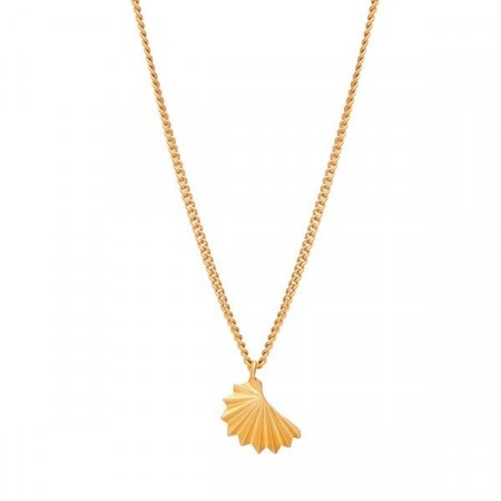 Origami necklace gold