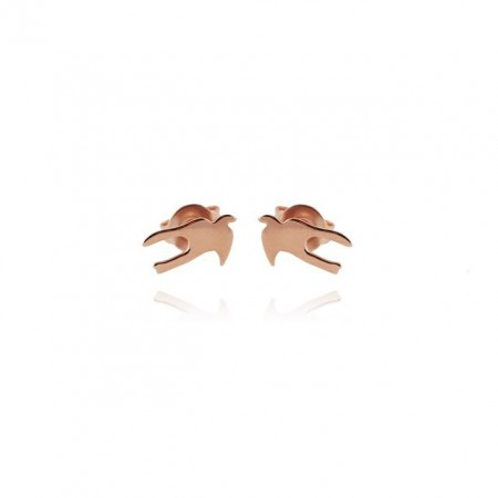 Swallow mini rose gold plated earring