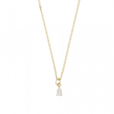 SNÖ Camille small pendant necklace gold/clear