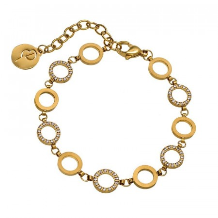 Glow bracelet mini multi matt gold