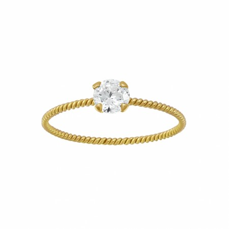 Portofino twisted ring clear/gold