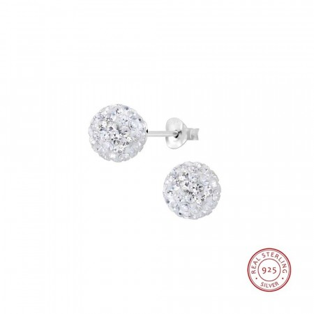 Claudia crystal ball earrings crystal