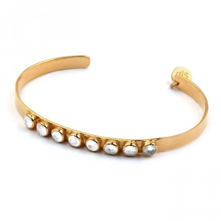 Larissa bangle gold moonstone