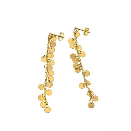 Bazaar earrings matt gold