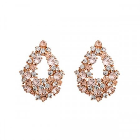 Alice earrings silk/rose gold