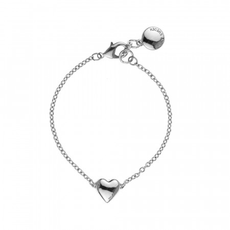 SNÖ Small card chain bracelet silver