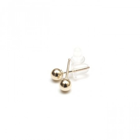 Gold studs 4 mm