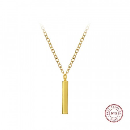 14k gullbelagt Everyday Bar necklace