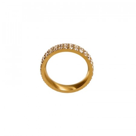 Glow ring double matt gold
