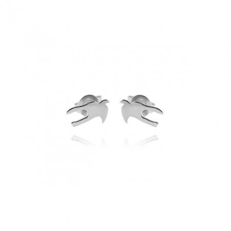 Swallow mini silver earring