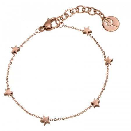 Star bracelet mini multi rose gold