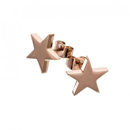 Star studs large rose gold