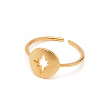Compass ring gold