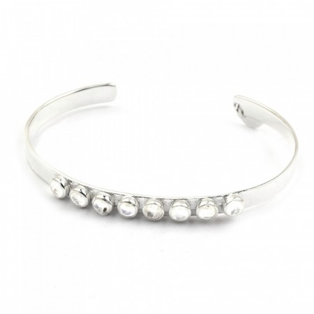 Larissa bangle silver moonstone