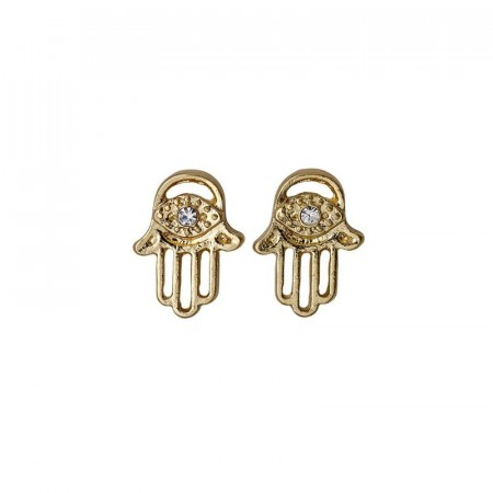 PILGRIM Felicity hamsa hand gold plated earrings