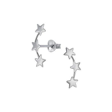 Sterlingsølv Triple star earrings