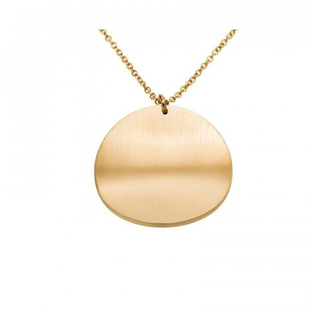 Concave Necklace Matt Gold