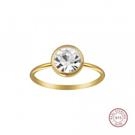 14k gold plated Icon solitaire ring