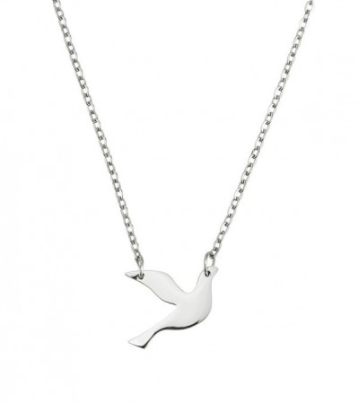 Dove necklace small steel