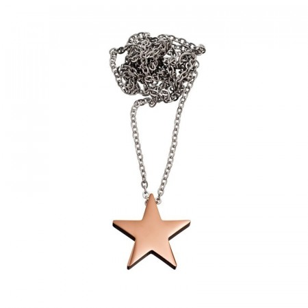 Star Necklace Thin Rose Gold