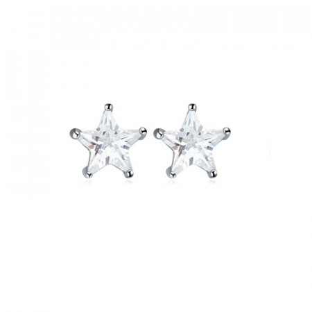 Midnight crystal star stud earrings