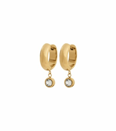 Edblad Dew drop hoops gold