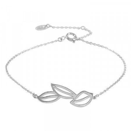 Maple chain bracelet plain silver