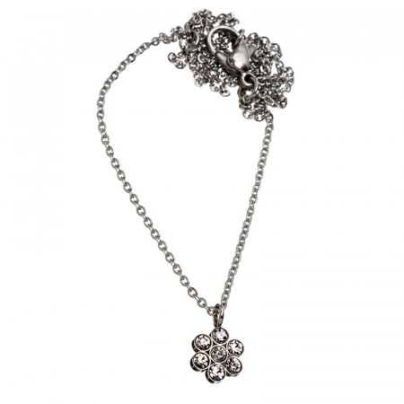 Belle Flower Necklace Steel