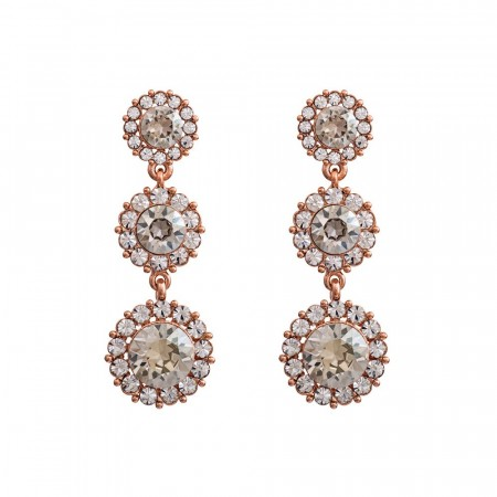 Sienna earrings crystal/rose gold