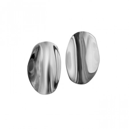 Edblad ørepynt Pebble studs large steel