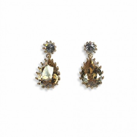 Droplet Earring Crystal Golden Shadow