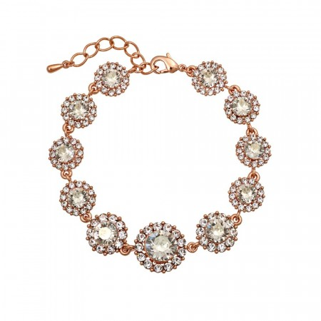 Sienna bracelet crystal rose gold